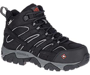 Moab Vertex Mid Waterproof Comp Toe Work Boot, Black, dynamic