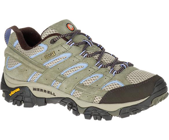 Women S Moab 2 Waterproof Wide Width Hiking Shoes Merrell