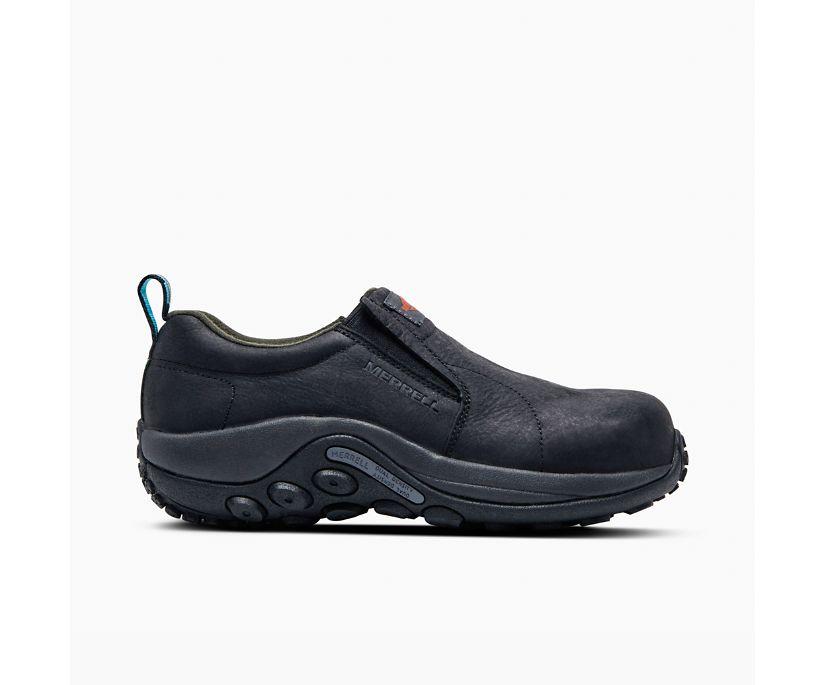 Jungle Moc Leather Comp Toe Work Shoe, Black, dynamic