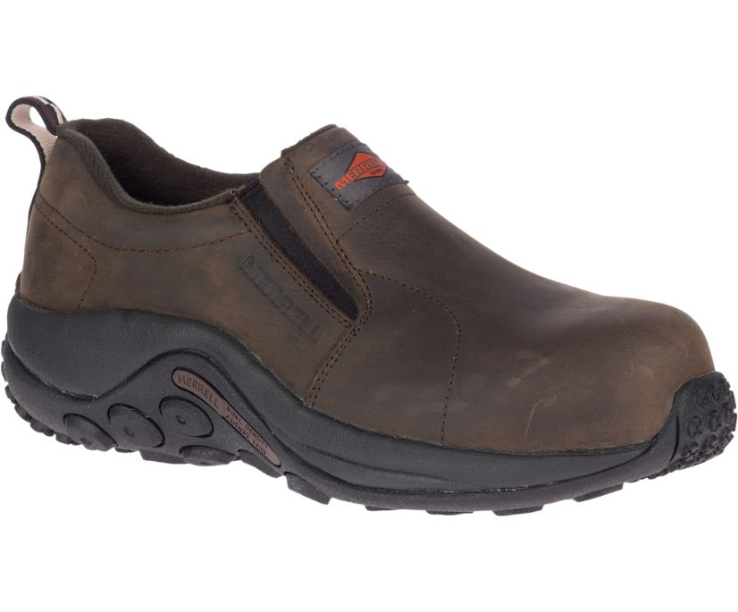 Jungle Moc Leather Comp Toe Work Shoe, Espresso, dynamic