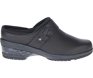 Valetta PRO Slide Work Shoe, Black, dynamic
