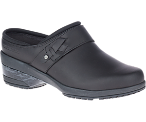 Valetta PRO Slide Work Shoe, Black, dynamic