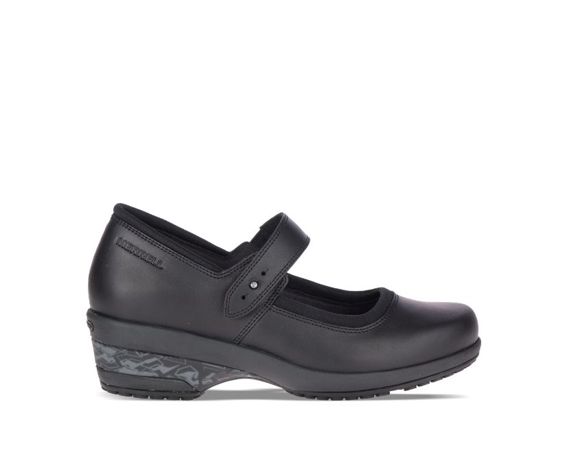 Valetta PRO Strap Work Shoe, Black, dynamic