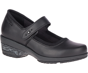 Valetta PRO Strap Work Shoe, Black, dynamic