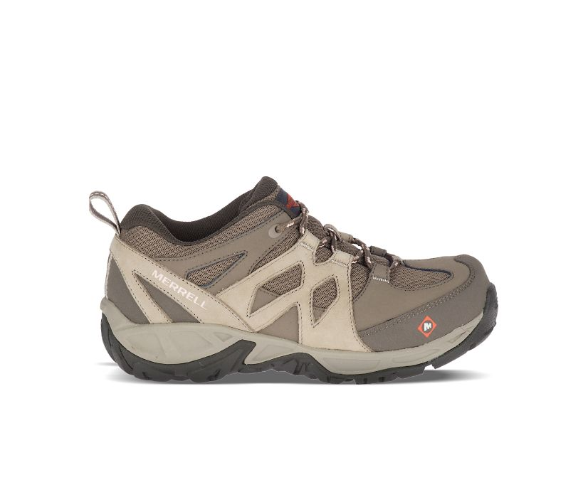 Siren Alloy Toe Work Shoe, Brindle, dynamic