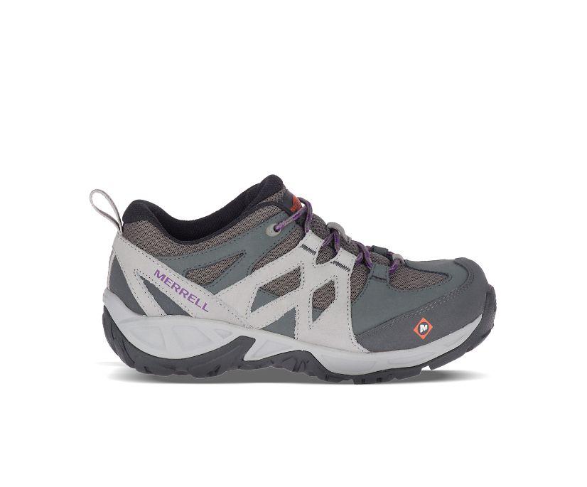 Siren Alloy Toe Work Shoe, Charcoal, dynamic