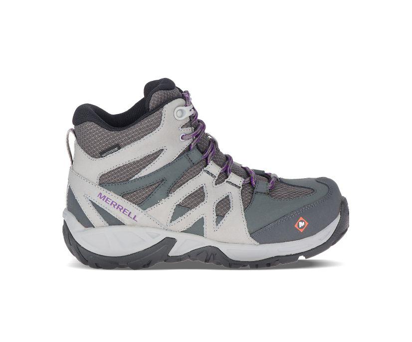 Siren Mid Waterproof Alloy Toe Work Boot, Charcoal, dynamic