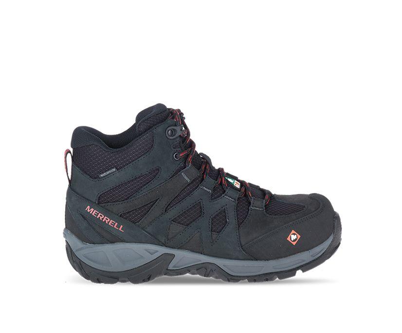 Siren Mid Waterproof Alloy Toe CSA Work Boot, Black, dynamic