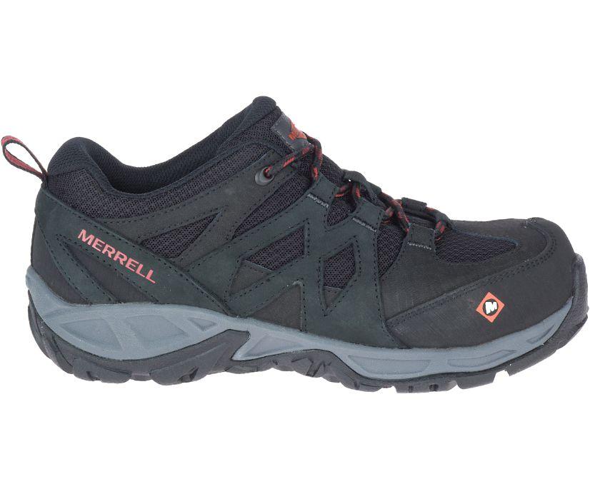 Siren Alloy Toe Work Shoe, Black, dynamic