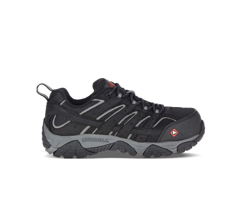 Moab Vertex Vent Comp Toe Work Shoe, Black, dynamic