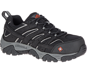 Moab Vertex Vent Comp Toe Work Shoe, Black, dynamic