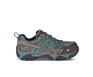 Moab Vertex Vent Comp Toe Work Shoe, Pewter, dynamic