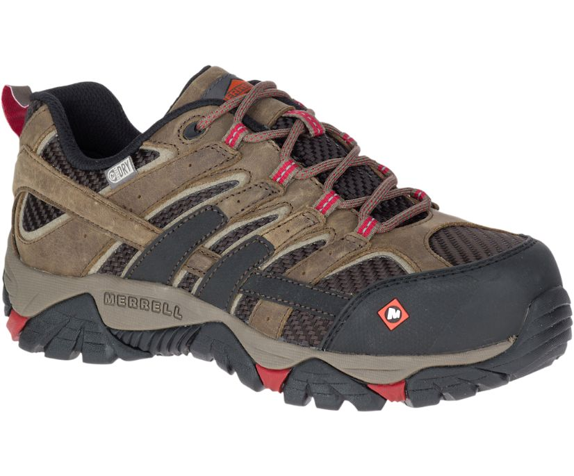 Moab 2 Vent Waterproof Comp Toe Work Shoe, Boulder, dynamic