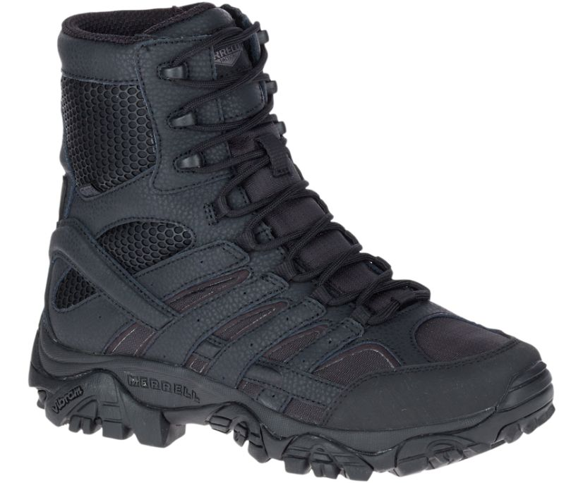 "Moab 2 8"" Tactical Waterproof Boot Wide Width, Black, dynamic"