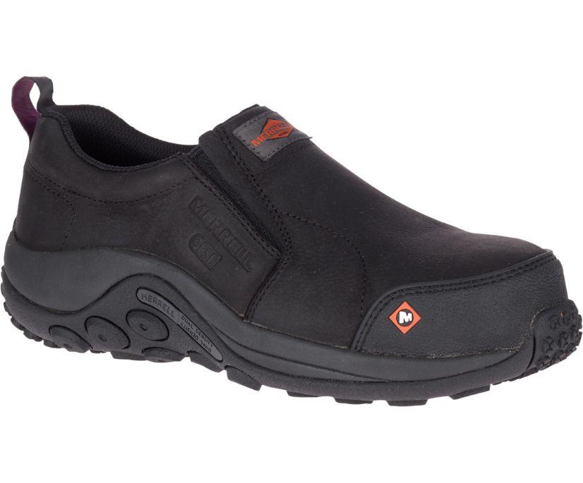 Jungle Moc ESD Comp Toe Work Shoe, Black, dynamic