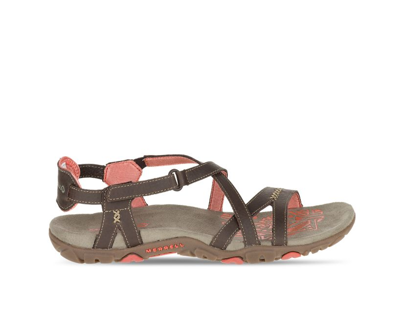 Sandspur Rose Leather, Cocoa/Coral, dynamic