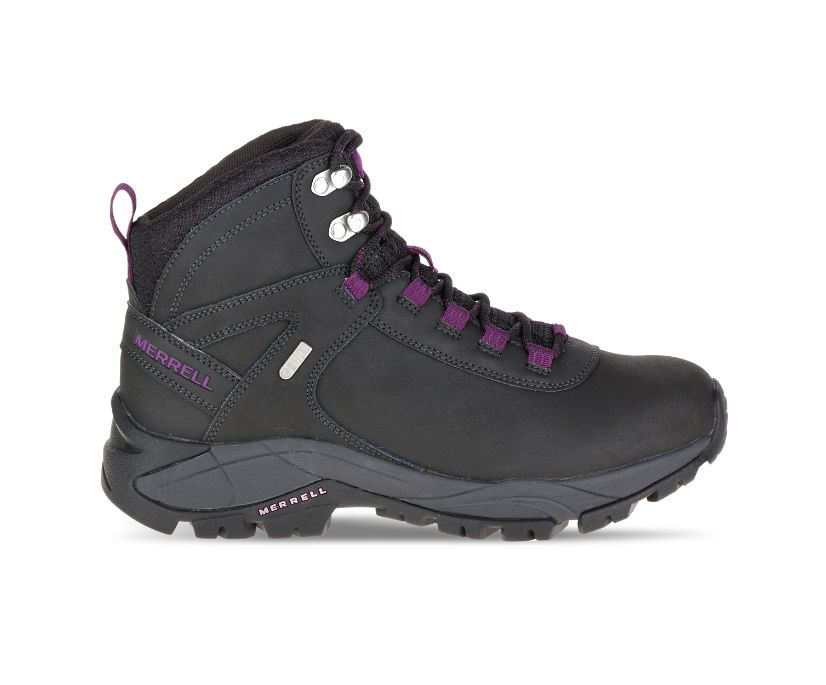 Vego Mid Leather Waterproof, Black/Gloxinia, dynamic