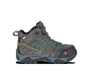Moab Vertex Mid Waterproof Comp Toe Work Boot, Pewter, dynamic