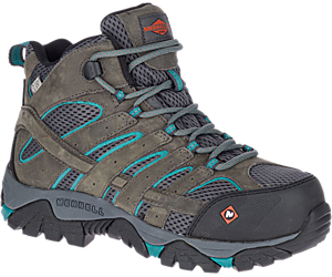 Moab Vertex Mid Waterproof Comp Toe Work Boot, Pewter, dynamic