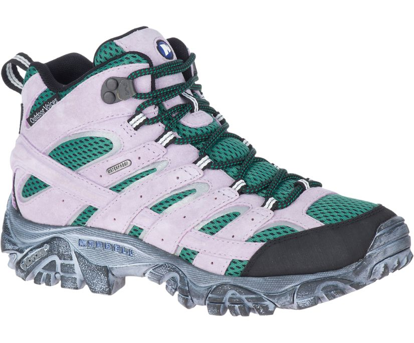 Moab 2 Mid Waterproof X Outdoor Voices, Taro, dynamic