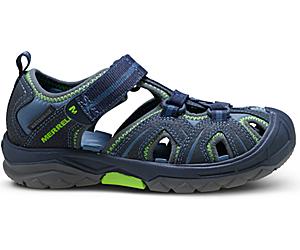 Hydro Sandal, Navy / Green, dynamic