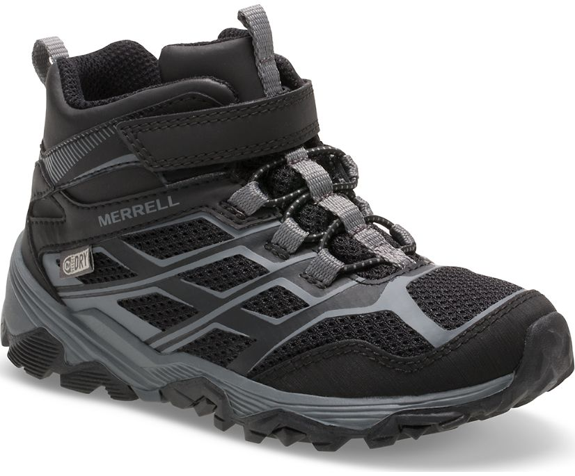 Moab FST Mid A/C Waterproof Boot, Black, dynamic