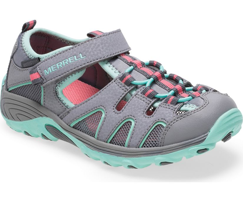 Hydro H2O Hiker Sandal, Grey/Turquoise, dynamic