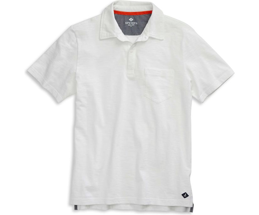 Polo Shirt, White, dynamic