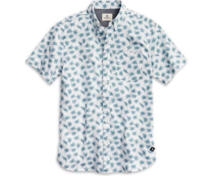 Lure Print Button Down Shirt, Navy, dynamic