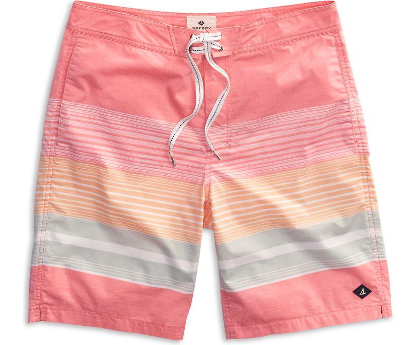 Variegated Stripe Board Short, Spice Coral, dynamic