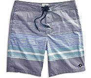 Variegated Stripe Board Short, Navy Blazer, dynamic