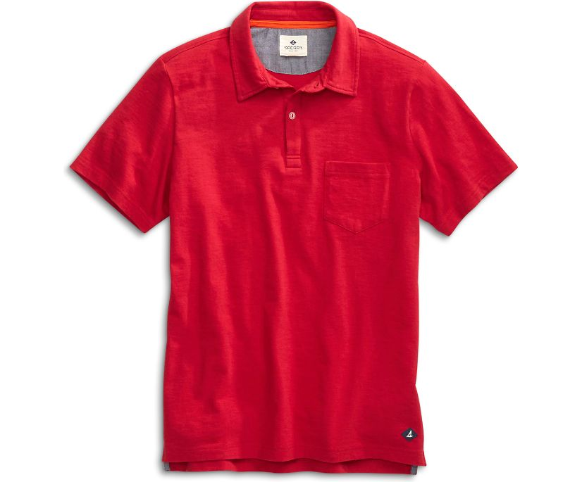 Polo Shirt, Red, dynamic
