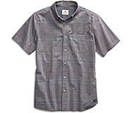 Chambray Stripe Print Button Down Shirt, Multi, dynamic