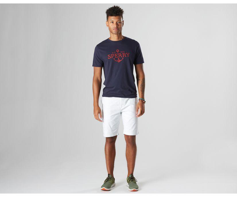 Bearing Anchor T-Shirt, Navy/Red, dynamic