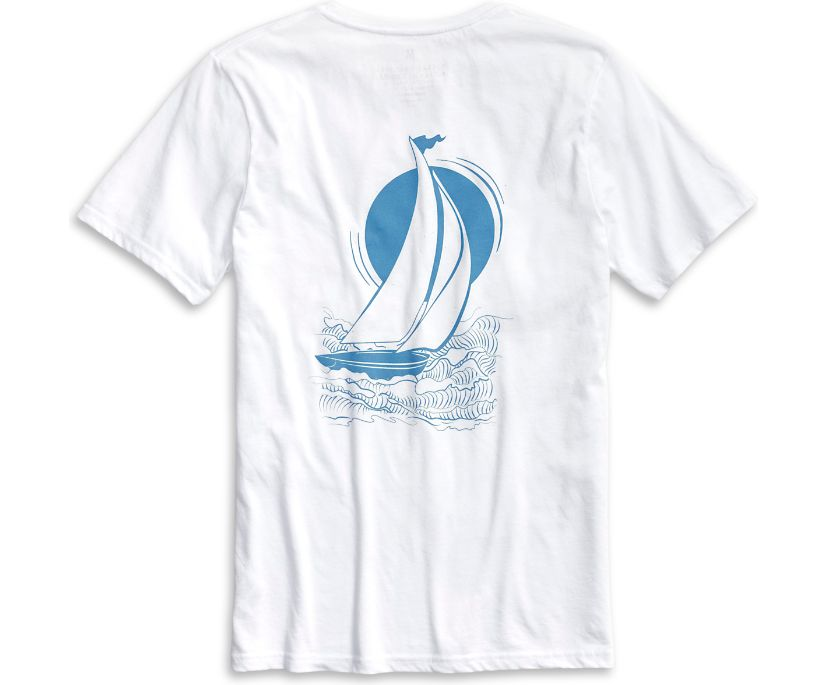 Starboard Sail T-Shirt, White, dynamic