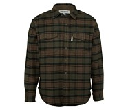 Blake Flannel Shirt, Dark Olive Plaid, dynamic