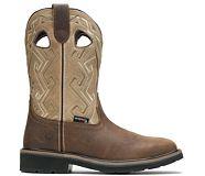 Rancher Aztec Steel-Toe Wellington Work Boot, Bone, dynamic