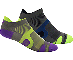 XP Superlite 2-Pack Socks, Grey / Purple, dynamic