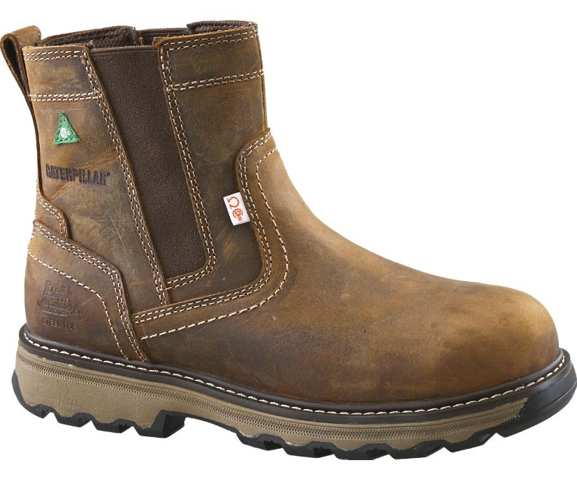 Pelton Steel Toe CSA Work Boot, Dark Beige, dynamic