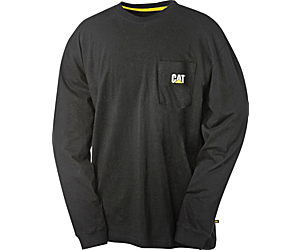 Trademark Pocket Long Sleeve Tee, Black, dynamic