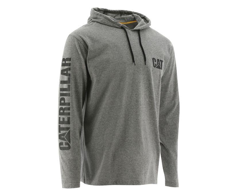 UPF Hooded Banner Long Sleeve Tee, Grey, dynamic