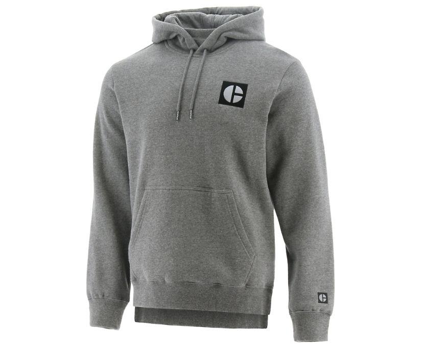 C-Block Hooded Sweatshirt, Grey, dynamic