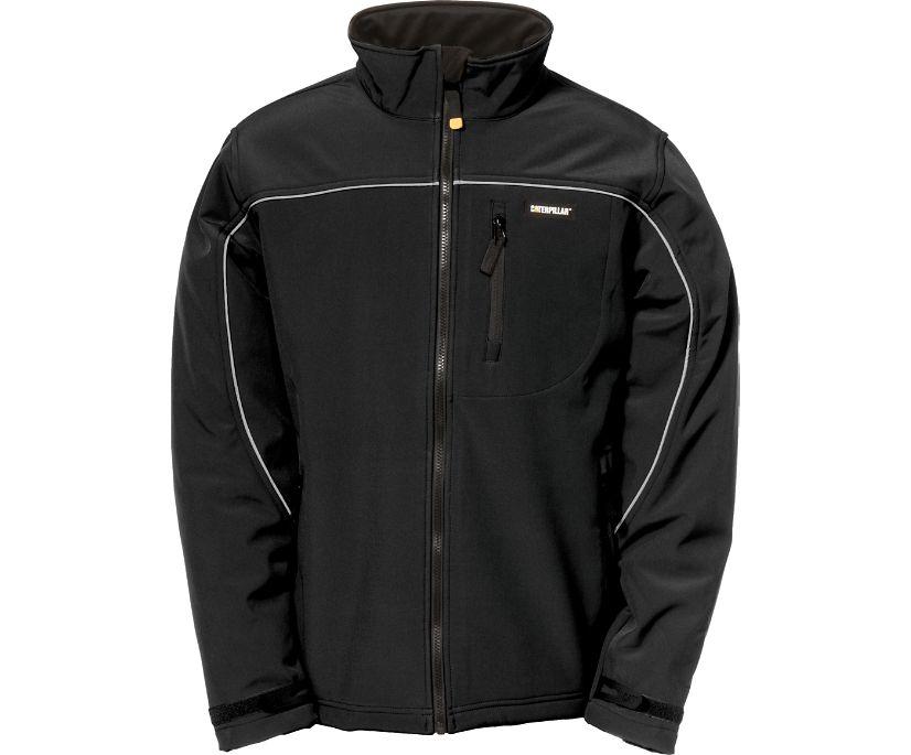 Soft Shell Jacket, Black, dynamic