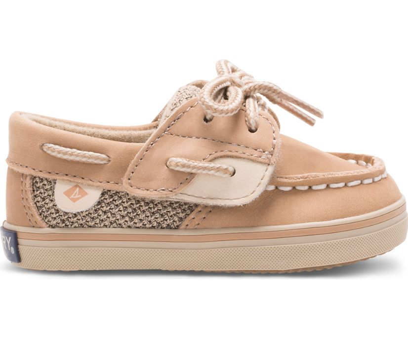 Bluefish Crib Junior Boat Shoe, Linen / Oat, dynamic
