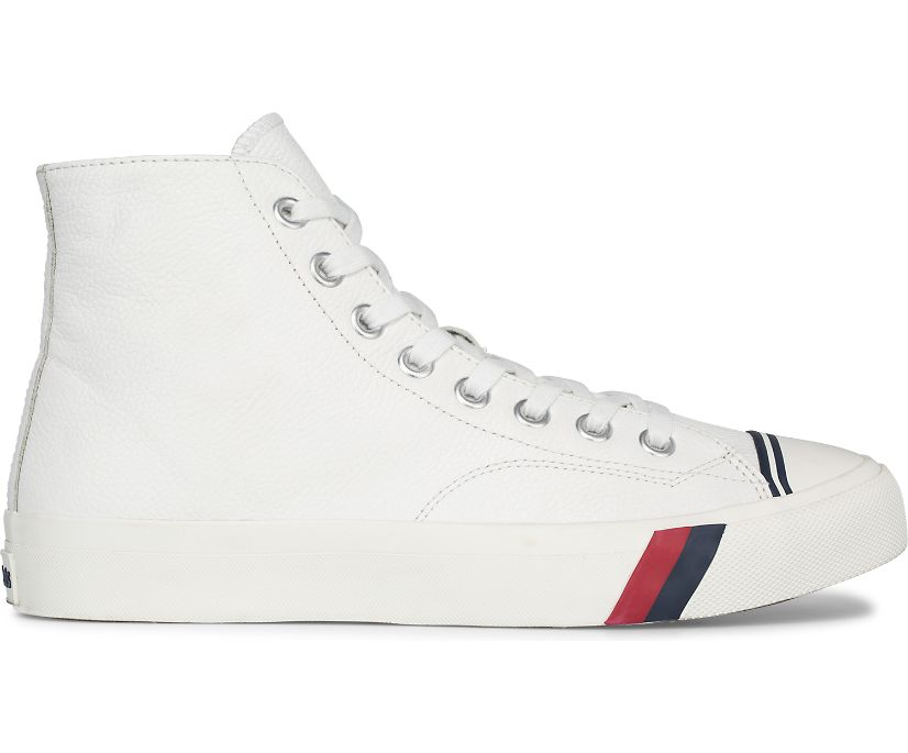 Unisex Royal Hi Leather, White, dynamic