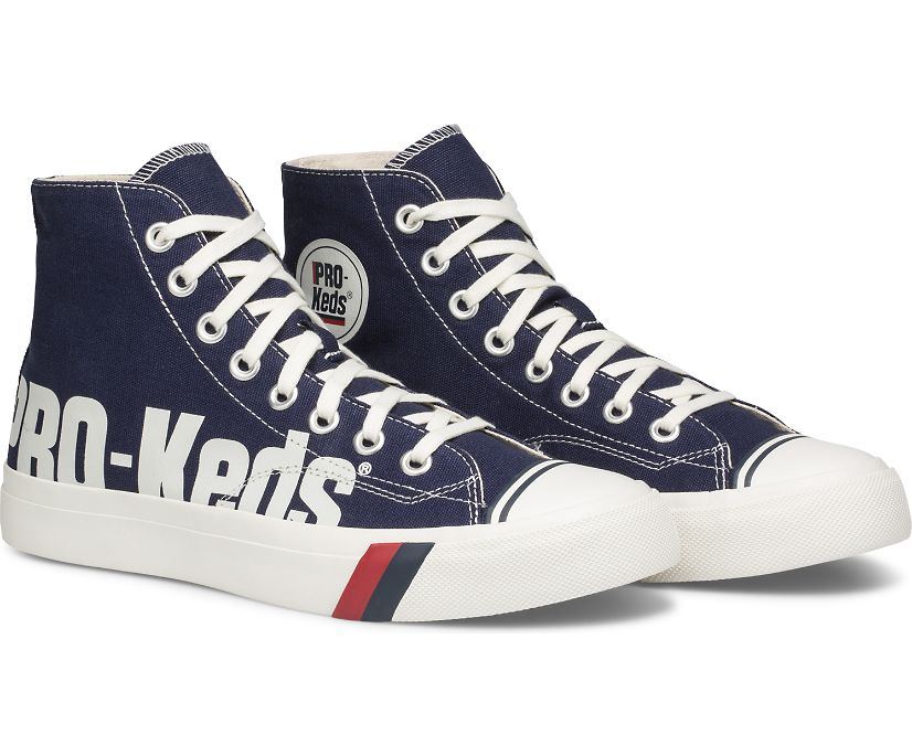 Royal Hi Logo Print, Navy White, dynamic