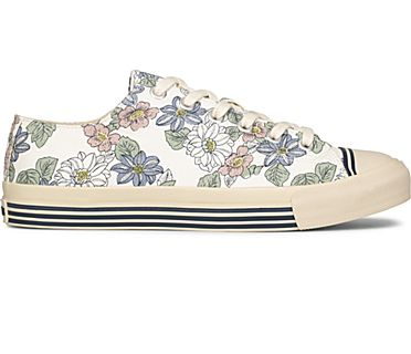 Unisex Super Recycled Canvas Floral Print, Cream, dynamic