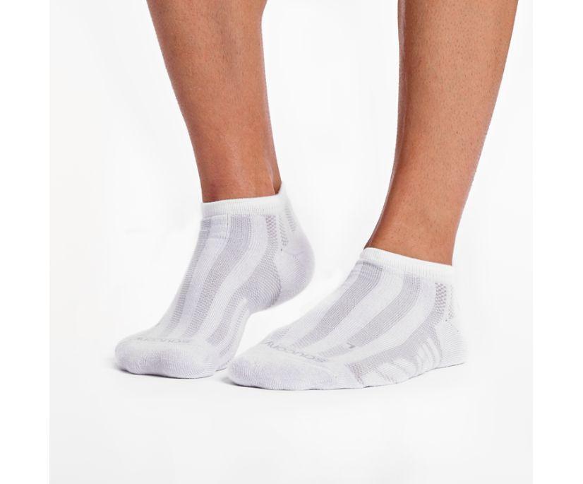 Men's Ventilator No Show Tab 1 Pack Sock, White, dynamic