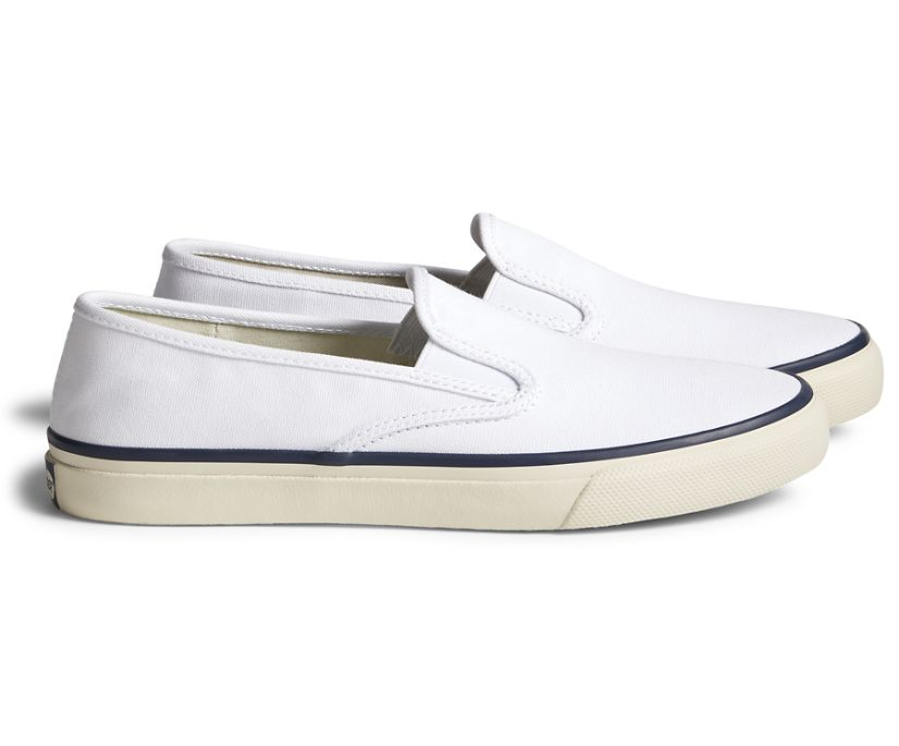 Unisex Cloud Slip On Deck Sneaker, White, dynamic