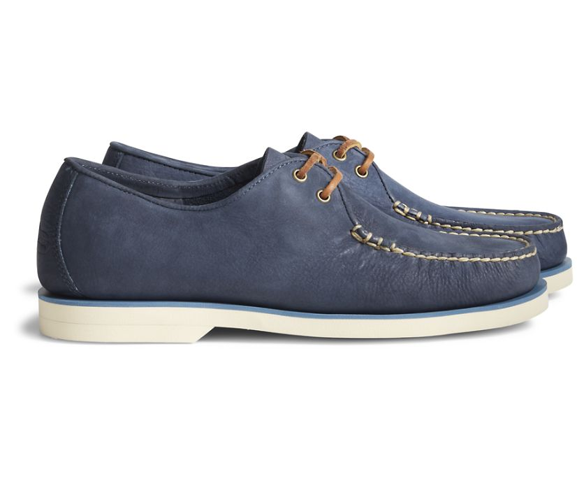 Unisex Cloud Captain's Oxford Nubuck, Navy, dynamic